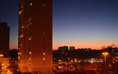 Potsdam Sonnenuntergang im Dezember
