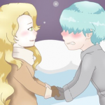 V and Rika on ice
