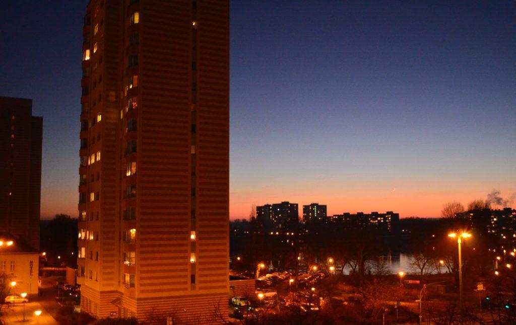 Potsdam - Sonnenuntergang im Dezember