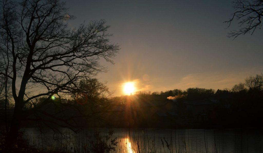 Sonnenuntergang ueberm See